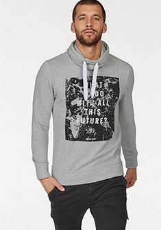 Tom Tailor Denim kapucnis pulóver nyomott mintával
