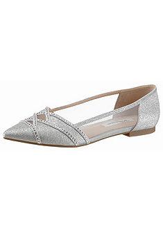Nina hegyes orrú balerina cipő csillogó hatással »Kiyrah«