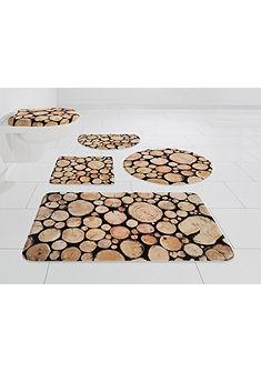 Kúpeľňová predložka, my home Selection »drevo« výška 14 mm, pamäťová pena