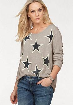 ZABAIONE kereknyakú kötött pulóver csillagos nyomott mintával  »VALESKA«