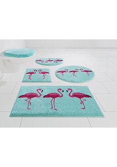 Fürdőszobaszőnyeg, Grund, »Flamingos«, vastagság 20 mm, csúszásgátló hátoldal