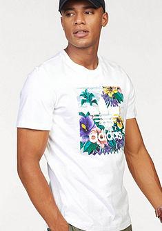 adidas Originals kereknyakú póló logó hímzéssel és virágmintával »BB FLRL TEE«