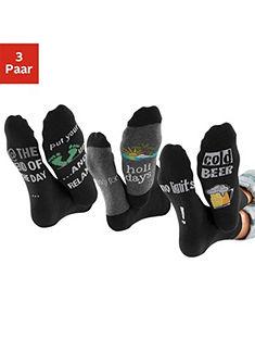 H.I.S Ponožky (3 páry) s nápisom - pivo