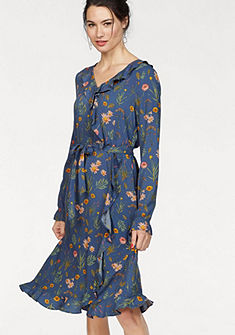 Tom Tailor Zavinovacie šaty »Romantic Ruffle« (s viazankou)