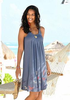 Beachtime Plážové šaty, potlač motýľov