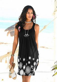 Beachtime Plážové šaty, grafický potisk