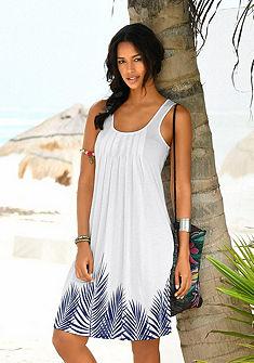 Beachtime Plážové šaty, potlač lístia