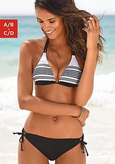Jette háromszög bikini, elegáns csíkos design