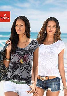 Beachtime Tričko (2 ks) s palmovým vzorem