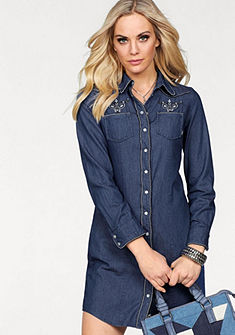 Arizona Riflové šaty » svýšivkami vetno vzhľade«