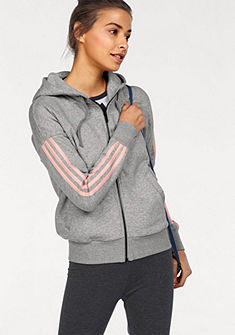 adidas Performance Mikina s kapucňou »ESSENTIALS 3 STRIPES FULLZIP HOODIE«