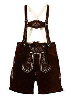 Marjo Dětské kožené kalhoty s výšivkou