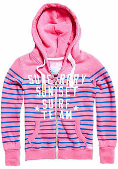 Superdry Mikina s kapucí »MIAMI SURF STRIPE ENTRY ZIPHOOD«