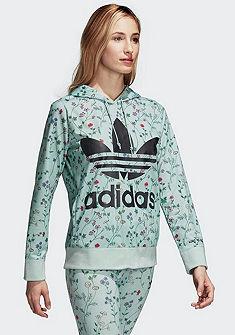 adidas Originals kapucnis pulóver virágmintával és logómintával