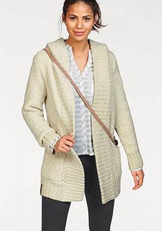 KangaROOS Pletený sveter s kapucňou, hrubo pletený materiál