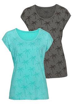 Beachtime rövid ujjú póló pálmafa mintával  (2 darab)