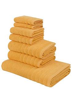 Törölköző szett pamutból bordürrel, my home, »Paddy«