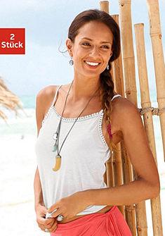 Beachtime Top na špagetové ramienka (2 ks)