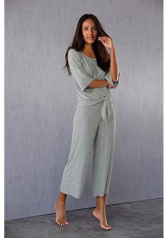 LASCANA trendi Lounge-szett, 3/4-es ujjú felsővel és bő szárú nadrággal
