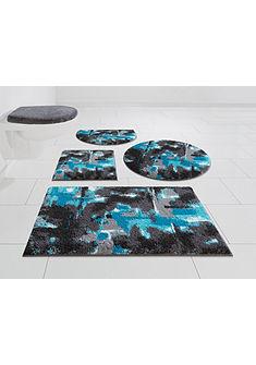 Fürdőszobaszőnyeg szett, 3 részes ,fali WC-hez, »Astrotto«, magasság 20 mm, csúszásgátló hátoldallal