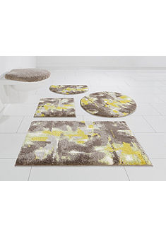 Kúpeľňová predložka, 3-diel. set pred WC bez výrezu »Astrotto« výška 20 mm, protišmyková zadná strana