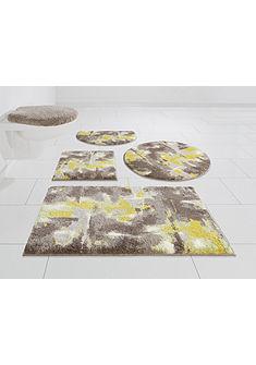 Kúpeľňová predložka, 3-diel. set pred WC s výrezom »Astrotto« výška 20 mm, protišmyková zadná strana