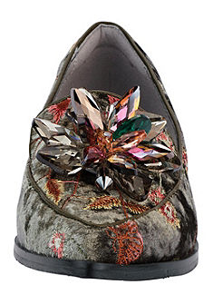 XYXYX Nazouvací topánky s výšivkou