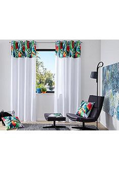 my home Selection Záclona »papoušek« s očkami, 2 ks