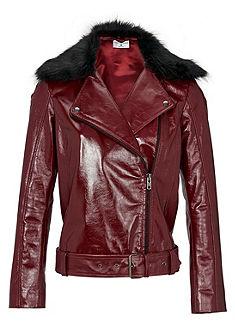RICK CARDONA by heine Kožená bunda z lakované kůže, s 2 umělými kožešinovými límci