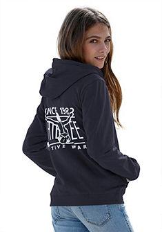 Chiemsee kapucnis pulóver hátán felirattal