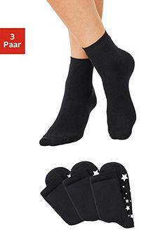 ABS-Ponožky (3 páry) s protiskluzovou podrážkou v hvězdném provedení