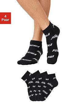 Puma rövid zokni (4 pár) bordás szegéllyel