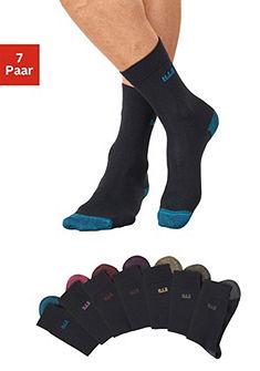 H.I.S Ponožky (7 párů) s barevnou špičkou a patou