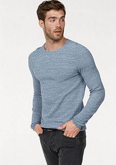 Tom Tailor Denim kereknyakú pulóver melírozott hatással