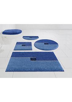 Kúpeľňová predložka, 3-diel. set, s výrezom »Crystal Touch« výška 17 mm, protišmyková úprava