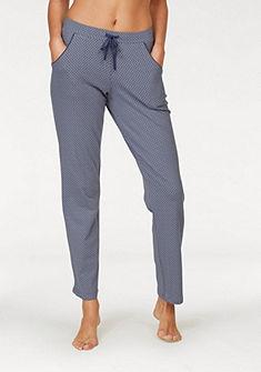 Schiesser Jemně vzorované pyžamové kalhoty s rovném střihu