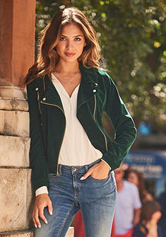 b.young Motorkářská bunda »Aurine velvet jacket«