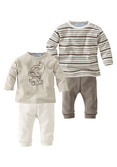 Klitzeklein 2 ks tričko s dlouhým rukávem a 2 ks kalhoty (Souprava, 4dílná)