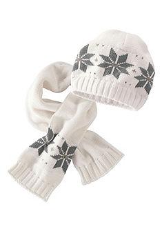 Klitzeklein Pletená čepice a pletená šála (Souprava, 2dílná)