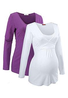 Neun Monate Materské tričko, funkcia dojčenia (2 ks)