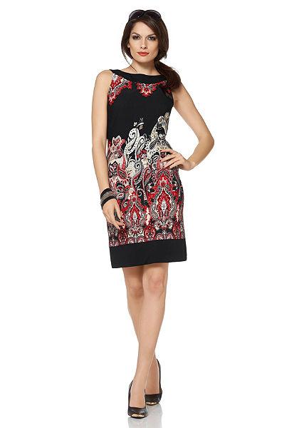 Vivance Pouzdrové šaty s kašmírovým vzorem
