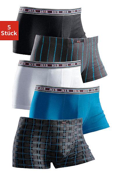 H.I.S Boxerky (5 kusov) elastická bavlna