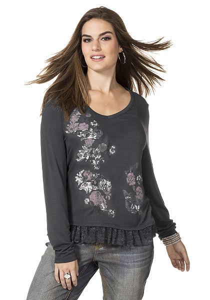 sheego Trend Póló V-nyakkivágással