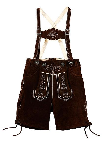 Dětské kožené kalhoty s výšivkou, Marjo