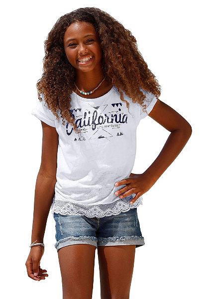 Arizona póló csipke szegéllyel, lányoknak