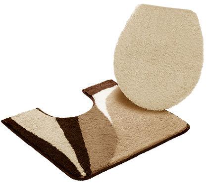 my home fürdőszobaszőnyeg, szett álló  WC-hez, »Magnus«, vastagság 20 mm, csúszásgátló hátoldallal