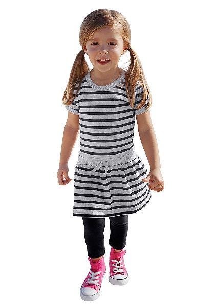 CFL Proužkované šaty & legíny pro dívky (2dílná)