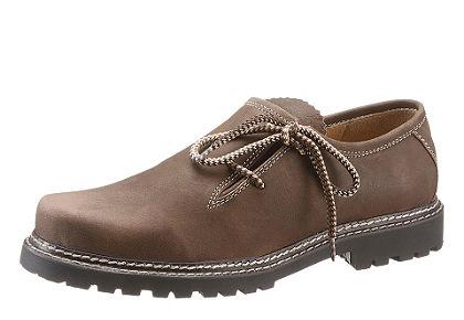 Férfi népviseleti félcipő mintás cipőfűzővel, Country Line