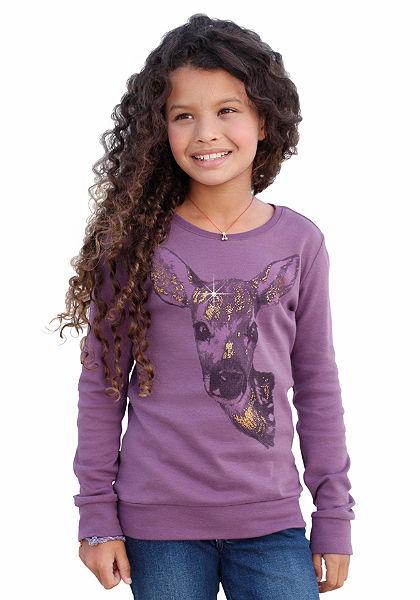 CFL hosszú ujjú póló csillogó nyomással, lányoknak