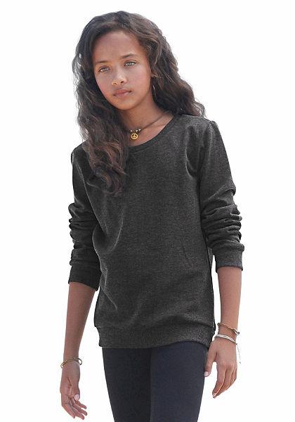 kidsworld hosszú ujjú póló klasszikus kerek nyakkivágással, lányoknak